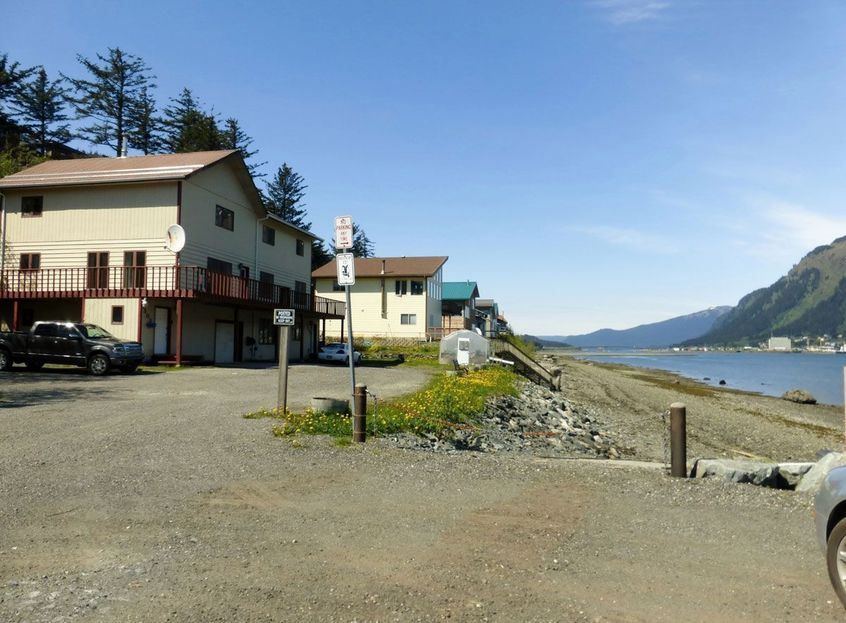 Waterfront homes in Downtown Douglas, overlooking Juneau and the Gastineau Channel