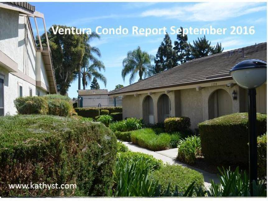 Ventura Condo Report September 2016 example of ventura condo