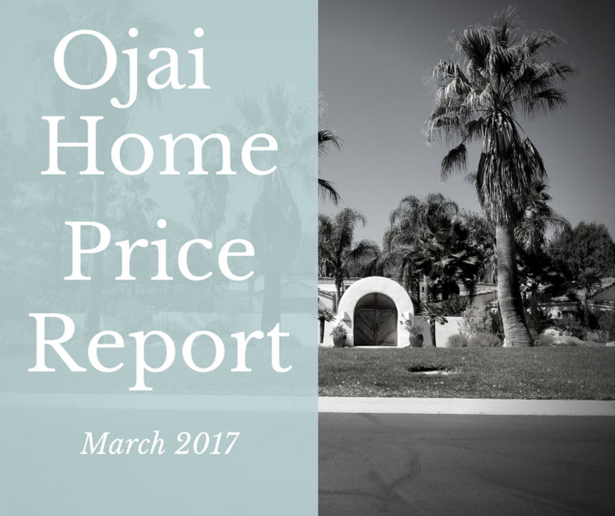 Ojai Home Price Report March 2017 top picture