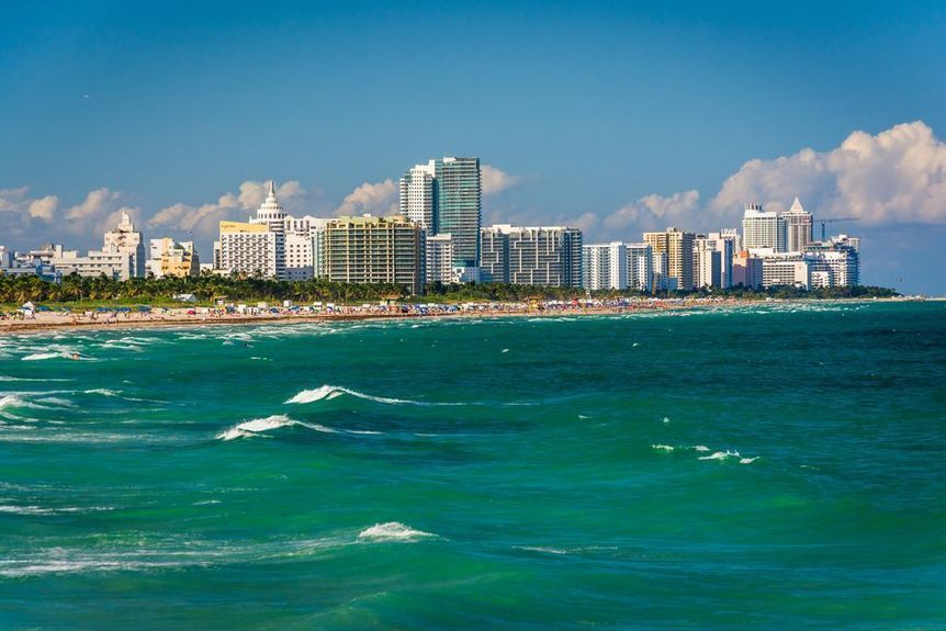 Miami Beach in Miami-Dade County, Florida