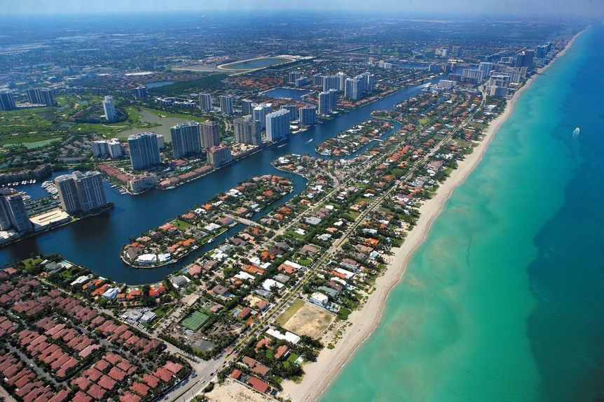 Golden Beach in Miami-Dade County. Florida