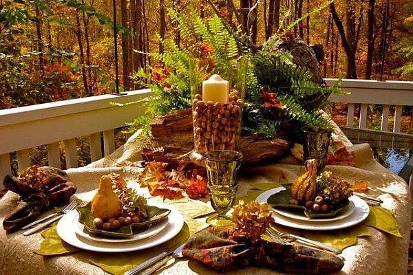 Fall Decor Outdoor Table Setting image