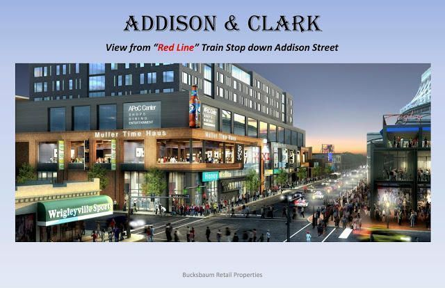 Rendering of Lakeview's Addison and Clark Development