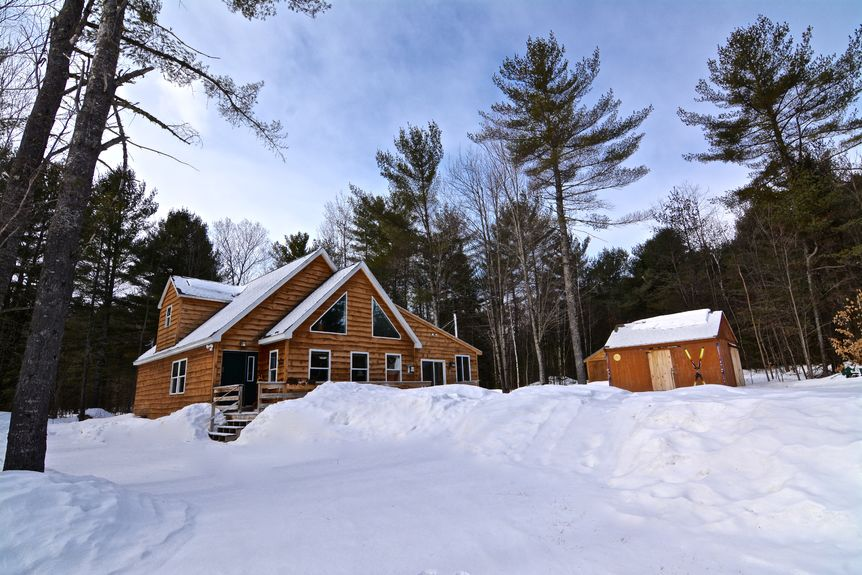 This home in Bethel boasts a location that's close to ski and snowmobile trails