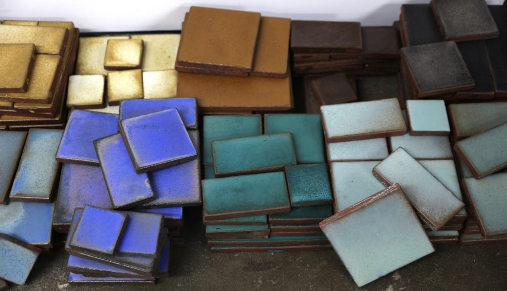 Pile of kitchen tiles