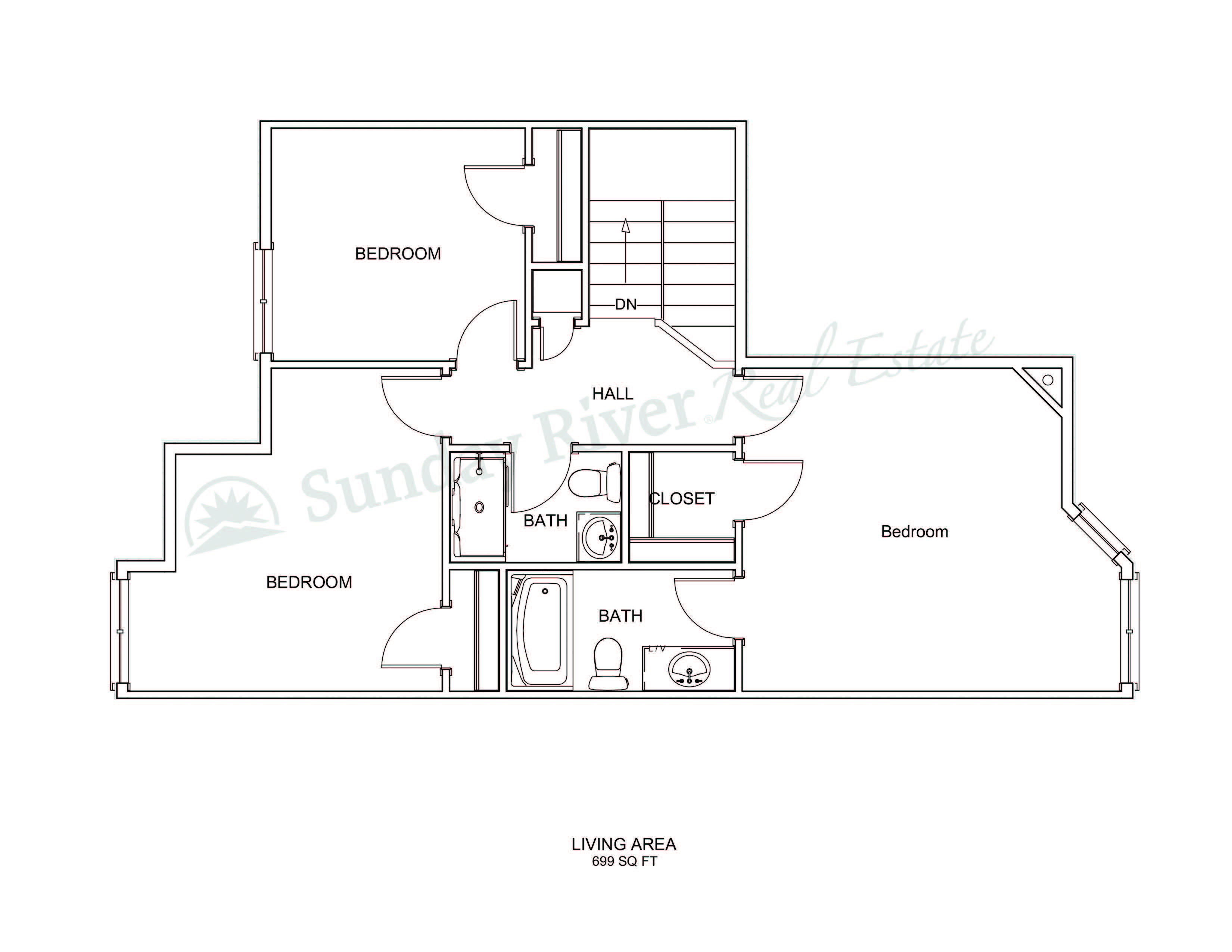 Center Unit | Second Floor