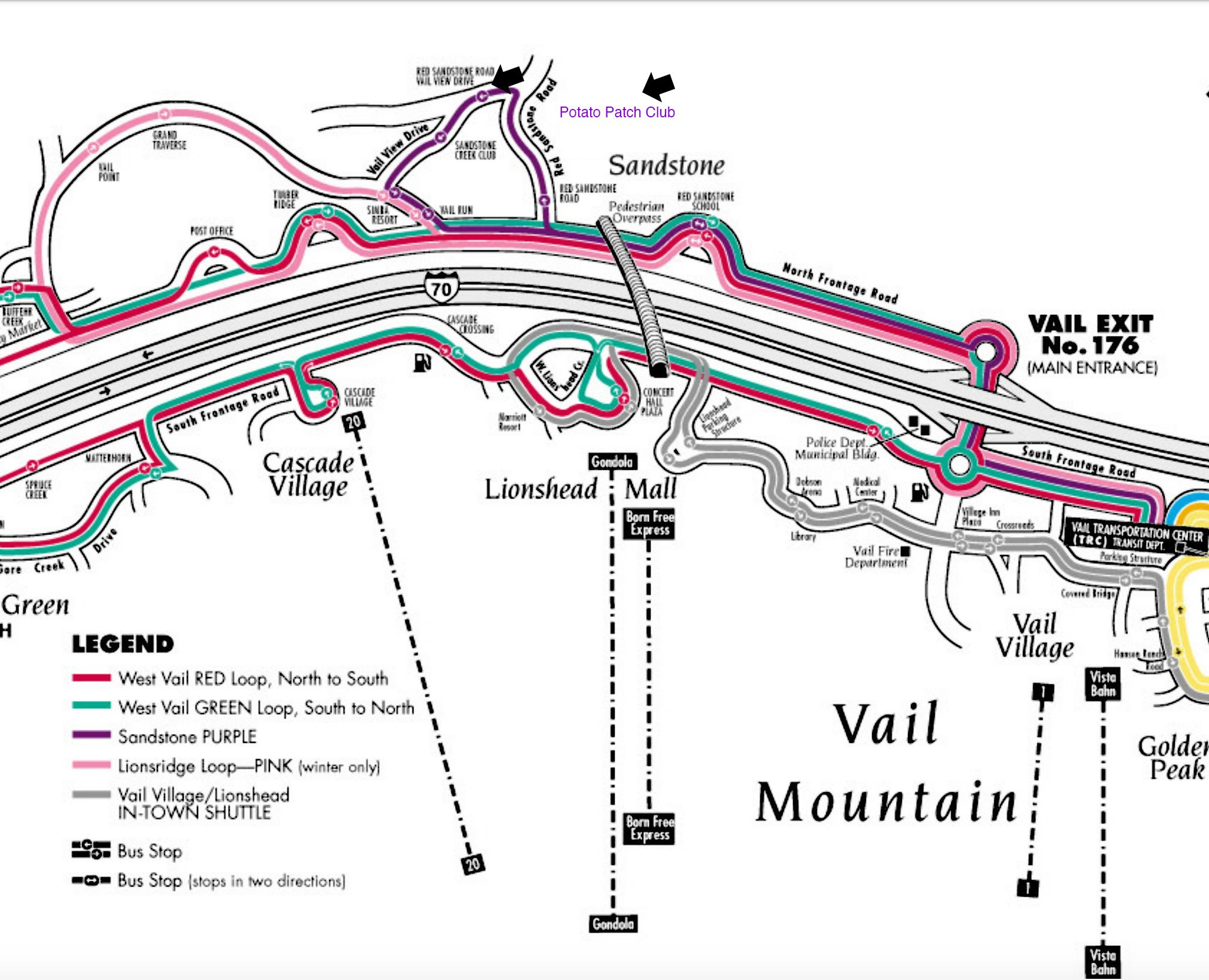 Vail Bus Route Map. Vail Co At Christmas, Vail Church Map ...