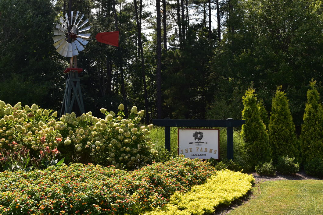 Entrance to The Farms subdivision in Mooresville, NC