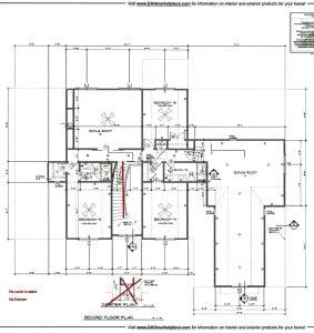 3211 Maple Way Drive Second Floor Plan Lot 1