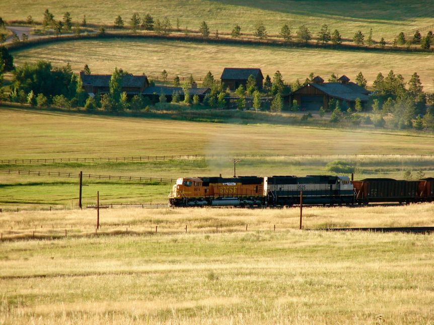 Train near Spruce Mountain Ranch