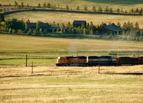 Train near Spruce Mountain Ranch
