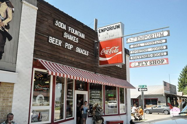 An Old Style Soda Shop in Victor, Idaho