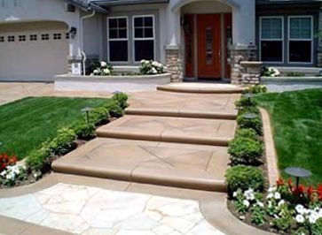 steps leading up to front door of a house