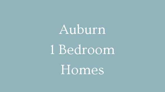Auburn 1 bedroom homes