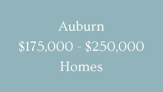 Auburn 175000 to 250000 homes