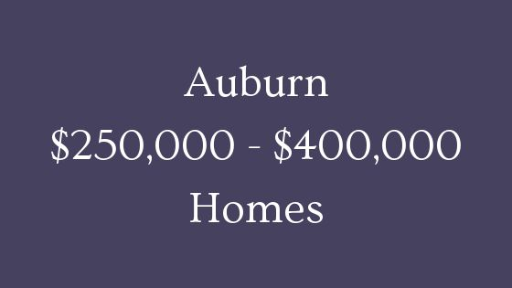 Auburn 250000 to 400000 homes