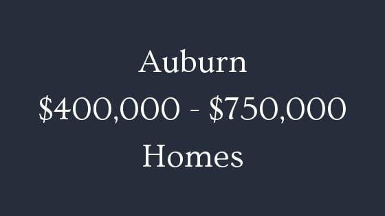 Auburn 400000 to 750000 homes