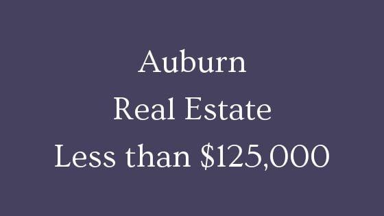 Auburn Real Estate less than 125000