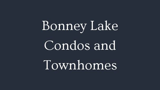 Bonney Lake condos and townhomes