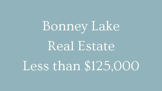 Bonney Lake real estate less than 125000