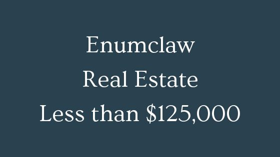 Enumclaw real estate less than 125000
