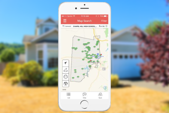 Real Estate app map