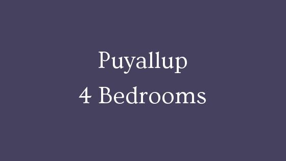 Puyallup 4 bedrooms