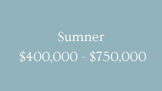 Sumner 400000 to 750000 real estate