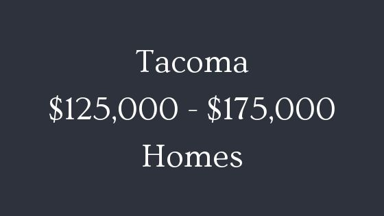 Tacoma 125000 to 175000 real estate