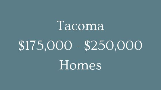 Tacoma 1750000 to 250000 real estate