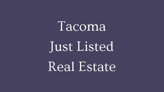 Tacoma just listed real estate