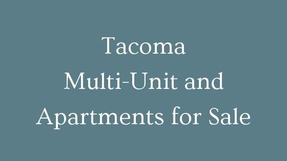 Tacoma WA Multi-Family and Apartments for Sale ...