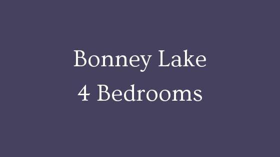 Bonney Lake 4 Bedroom Homes