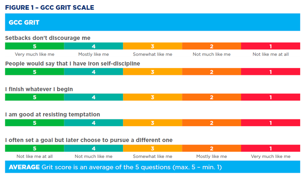Example of GCC GRIT Scale