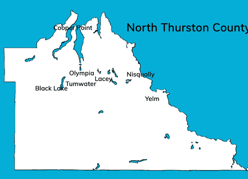 North Thurston County cities map