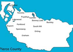Pierce County city map