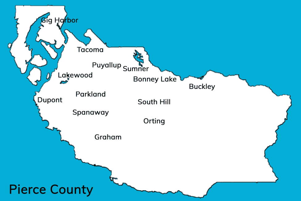 Pierce County city map
