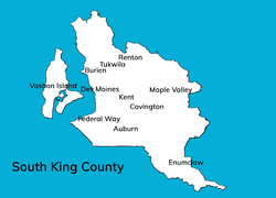 South King County cities map