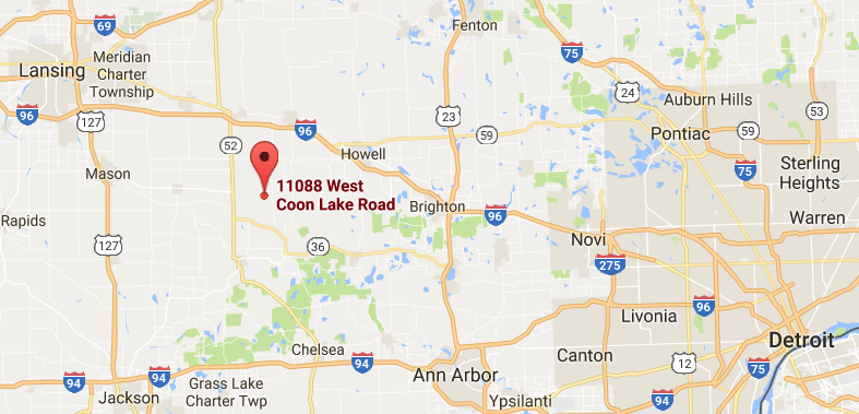 location of 11088 w coon lake rd