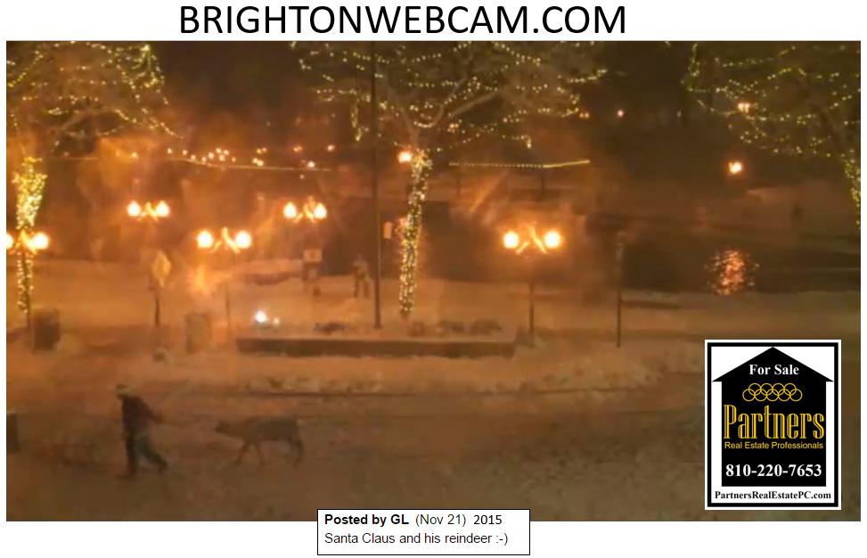 Brighton Webcam spots Santa