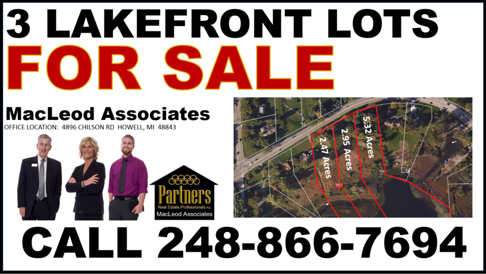 LAKEFRONT LOTS FOR SALE