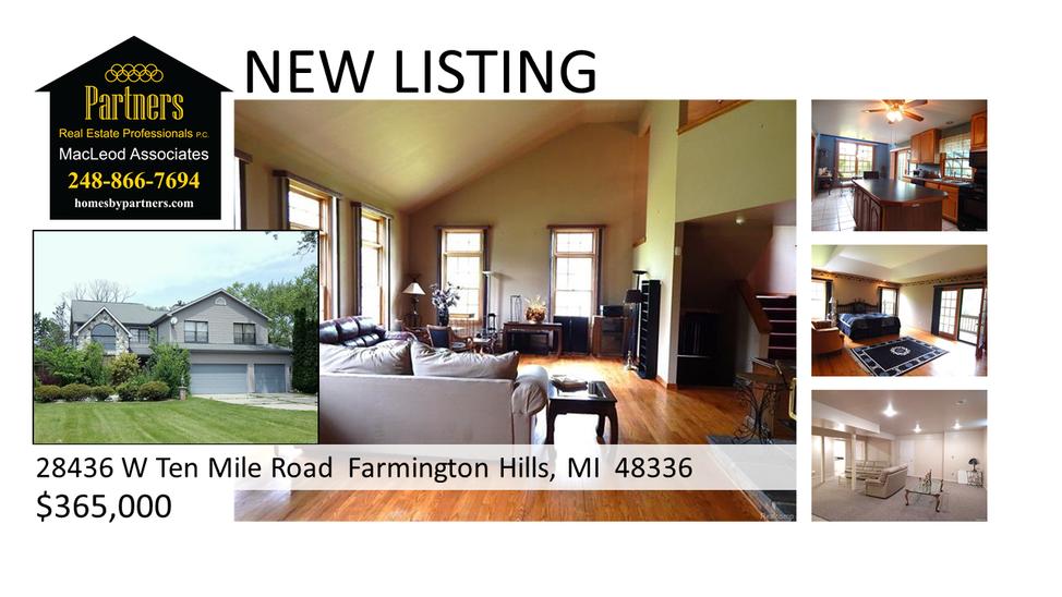 Farmington Hills Mi Home For Sale New Listing Alert