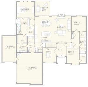 Woodland Floor Plan 1 - Main Level