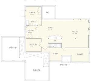 Woodland Floor Plan B - Lower Level