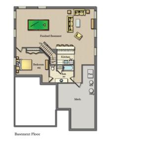 Wicklow Basement Floor Plan