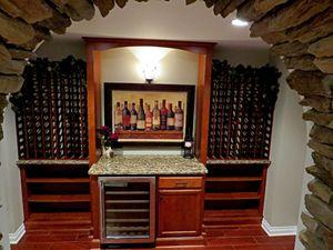 The Woodland Custom Wine Cellar Room