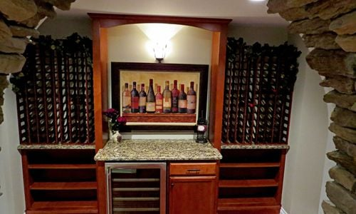 The Woodland Custom Wine Cellar Room