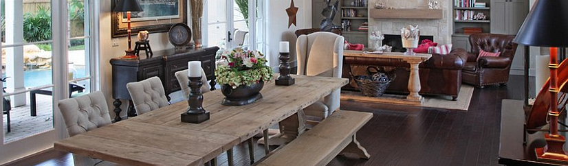 rustic home staging accents