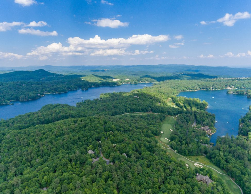 Lake Toxaway NC Aerial View