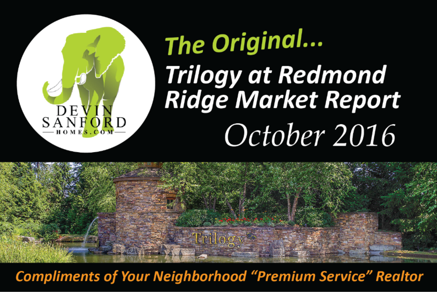 The Original Trilogy at Redmond Ridge Market Report October 2016